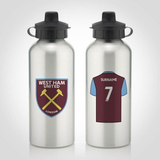 ddc379ad9cc Personalised West Ham Utd Water Bottle