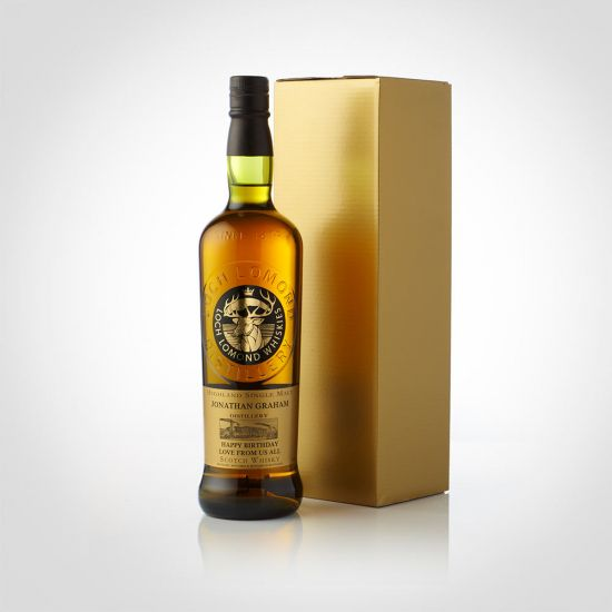 Personalised Malt Whisky with Gold Box