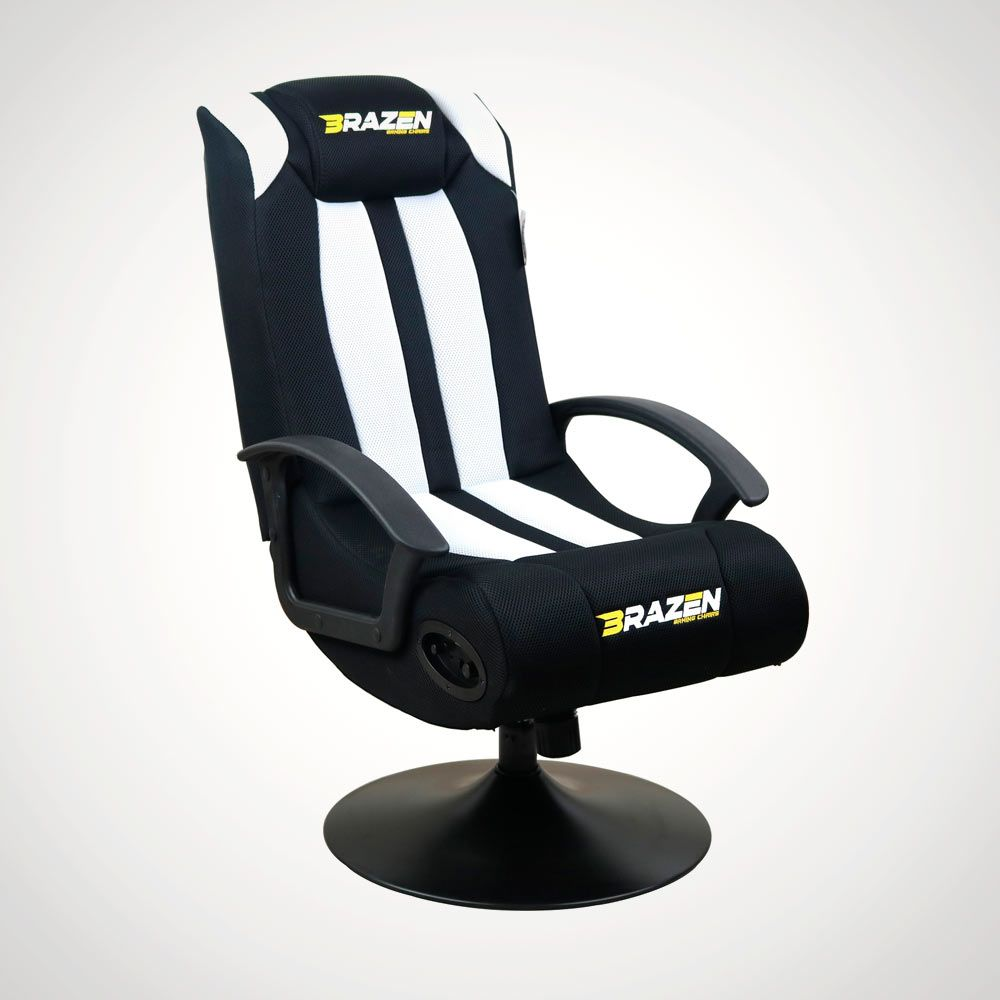 Wondrous Brazen Stag Gaming Chair In Black And White Forskolin Free Trial Chair Design Images Forskolin Free Trialorg