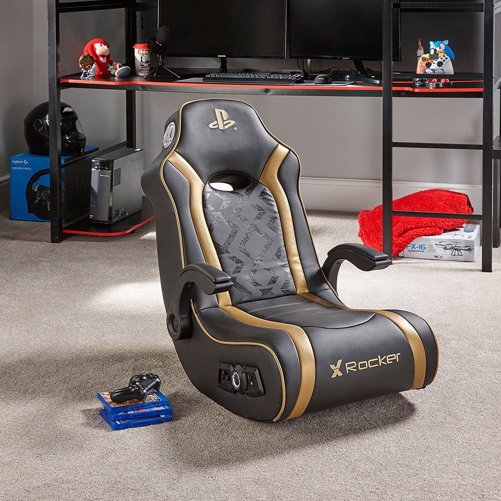 Astonishing X Rocker Playstation Gold 2 1 Audio Gaming Chair Pdpeps Interior Chair Design Pdpepsorg