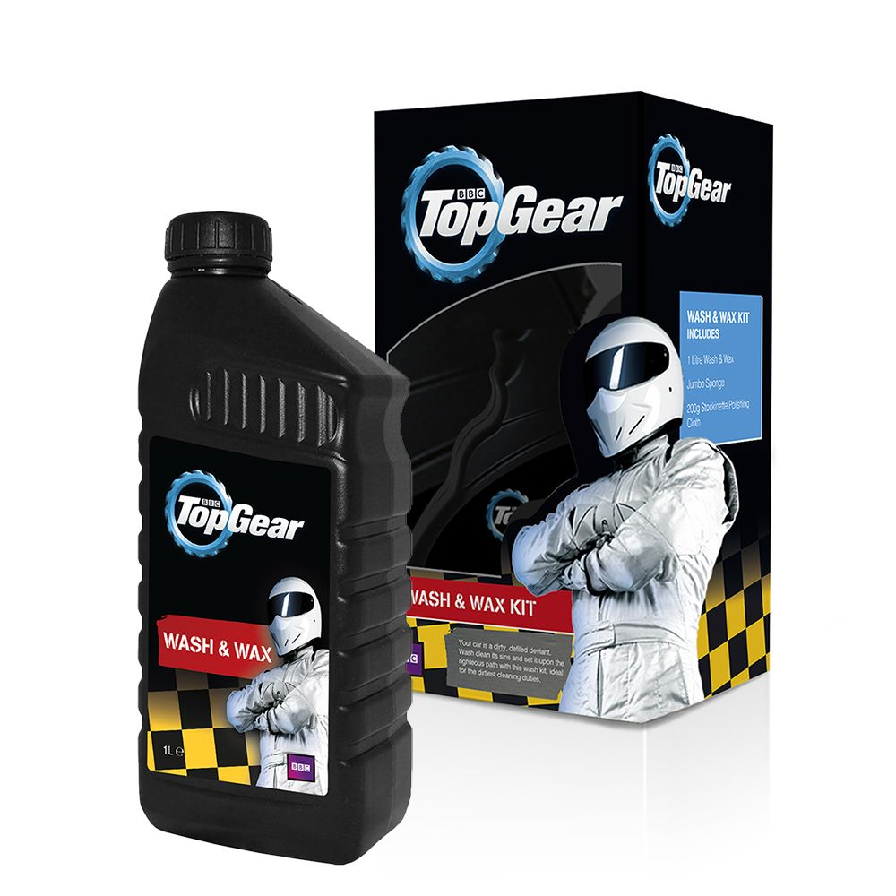 Top Gear Car Wash and Wax Cleaning Kit. - Car Accessories from the hit BBC show  Menkind