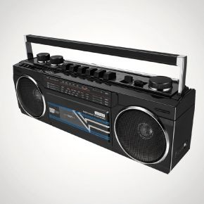 Retro Cassette Boombox With Bluetooth