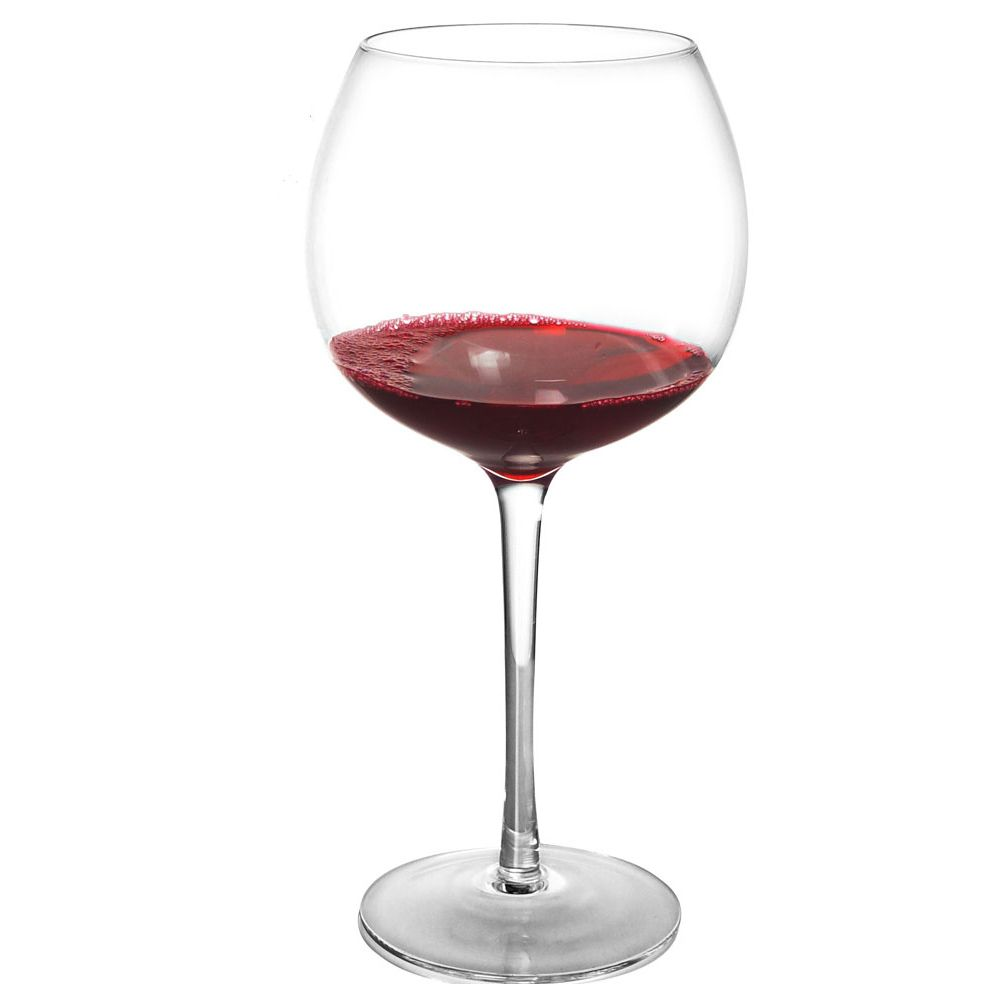 giant red wine glass holds over a bottle of your. Black Bedroom Furniture Sets. Home Design Ideas