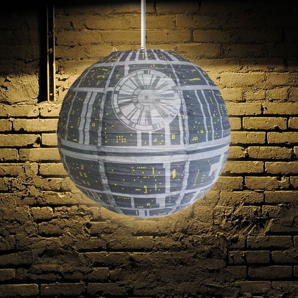 star wars death star shade light spherical lamp shade menkind. Black Bedroom Furniture Sets. Home Design Ideas