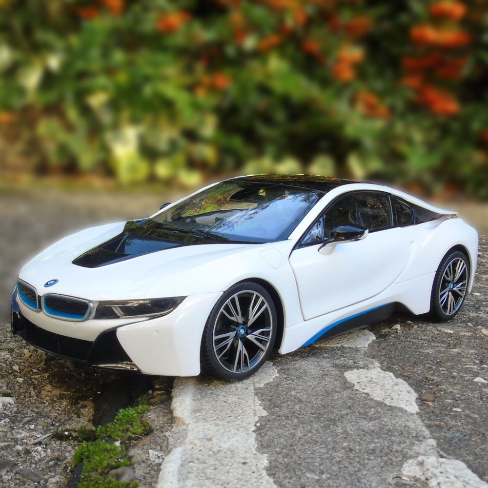 1 14 bmw i8 rc car authentic rc toy white or grey menkind. Black Bedroom Furniture Sets. Home Design Ideas