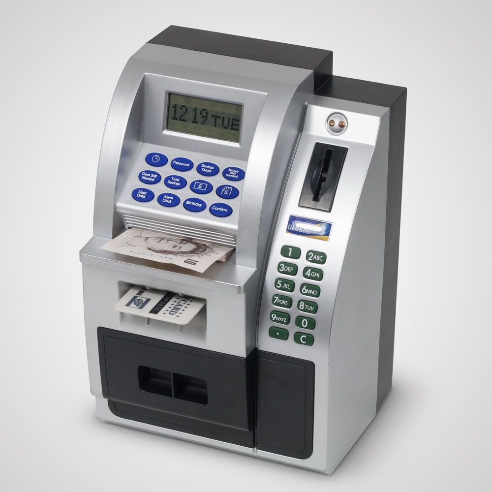 ATM Maxi Money Bank | Safely Save Cash At Home | Menkind