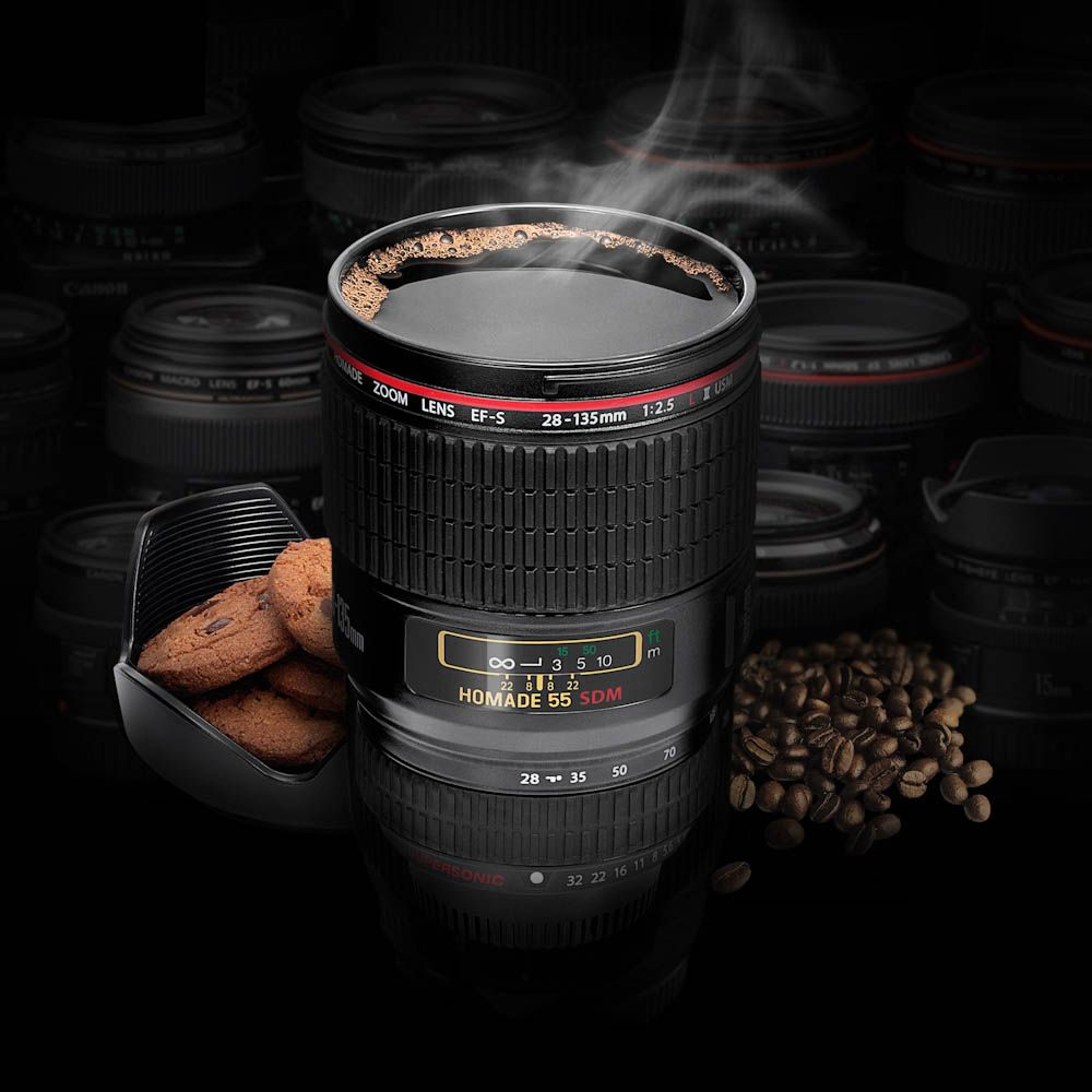 Camera lens cup by thumbs up stylish authentic slr lens Nikon camera lens coffee mug