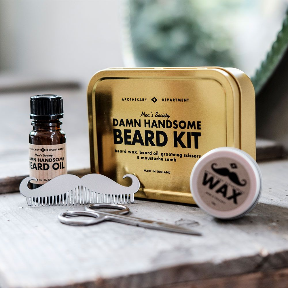 damn handsome beard kit for fabulous facial fuzz menkind. Black Bedroom Furniture Sets. Home Design Ideas