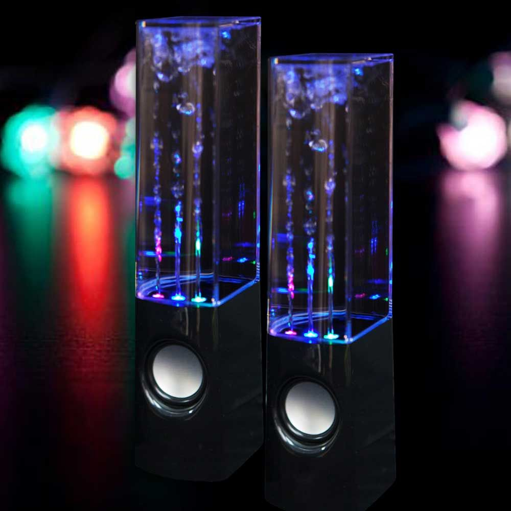 how to connect dancing water speakers
