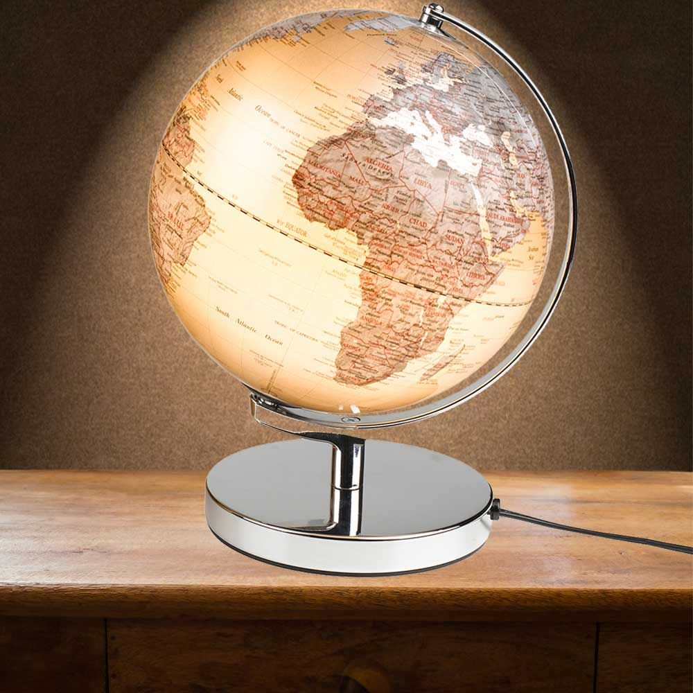Electrical Sliver Illuminated Globe Light In An Art Deco Style Menkind