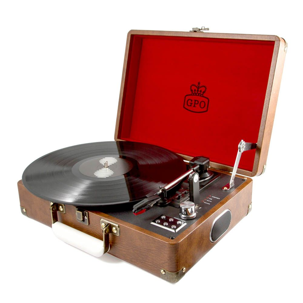 Attache Record Player Red Amp Brown Portable Turntable