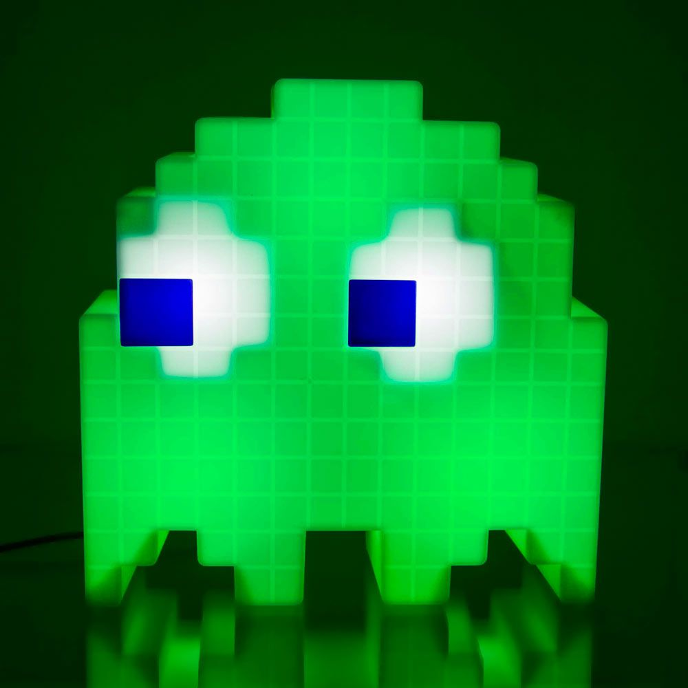Pac Man Pixel Ghost Lamp Cycles Through 16 Colours Menkind