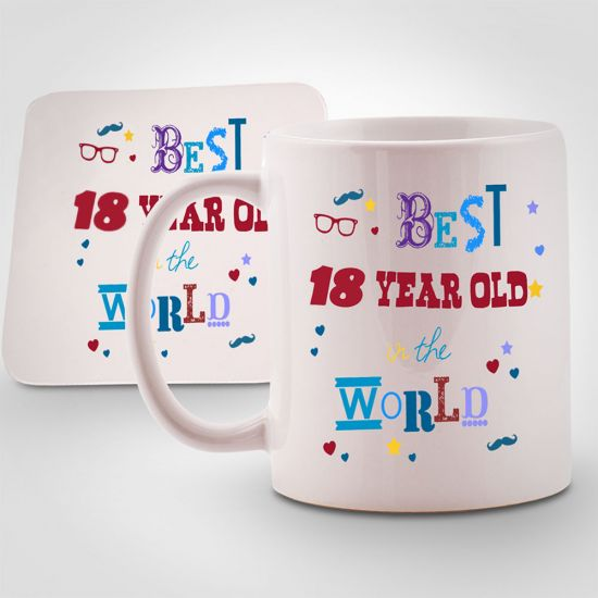 Best 18 year old in the World Mug & Coaster