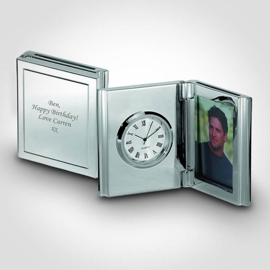 Personalised Desk Clock and Photo Frame 2