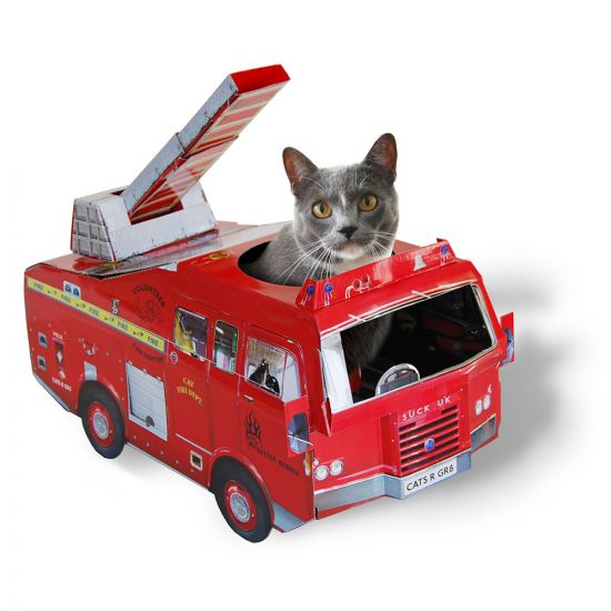 Fire Truck Cat Toy Playhouse