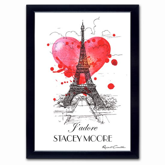 Personalised J'adore Poster