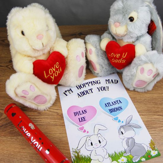Love Bunny and Personalised Declaration of Love Scroll