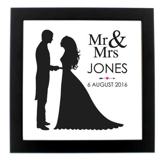 Personalised Mr & Mrs Poster