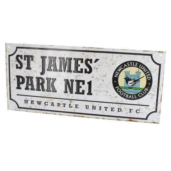 Newcastle United FC St James' Park Retro Street Sign