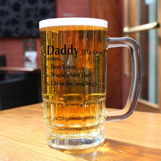 Personalised Definition Beer Glass Tankard