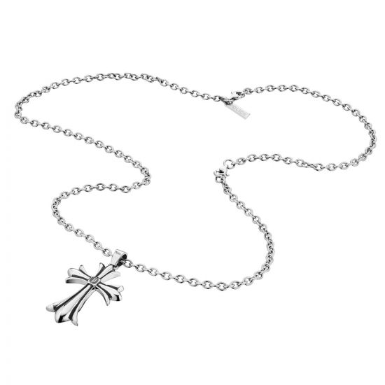 Police Mens Stainless Steel Grace Necklace