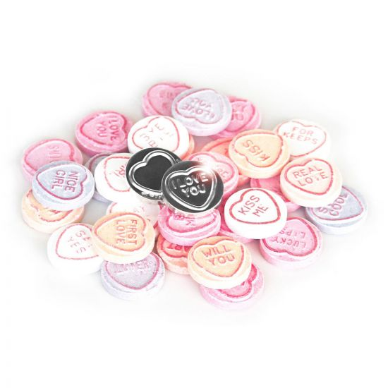 Silver Plated Love Heart Sweet