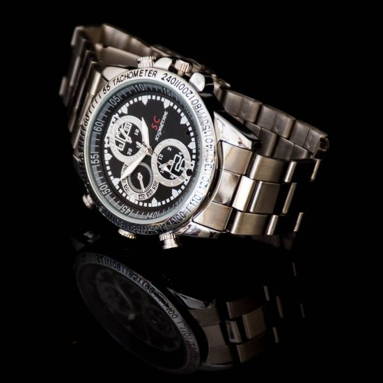 Stainless Steel Spy Watch 1