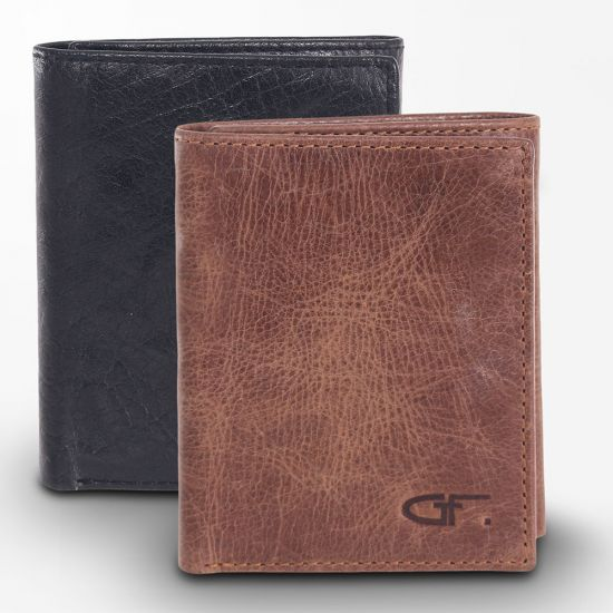 Gino Ferrari Trifold Wallet brown and black