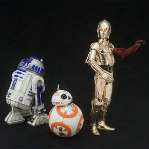 C3P0, R2D2 and BB8 3 Pack
