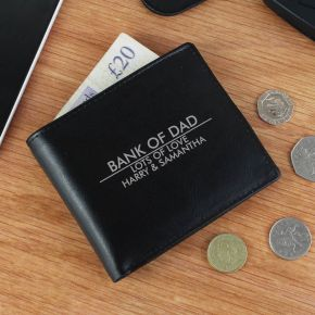 Personalised Classic Black Wallet
