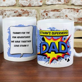 Personalised Comic Book Themed Mug