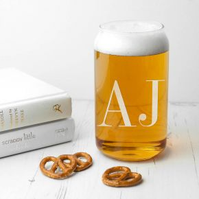 PersonalisedMonogrammed Can Glass