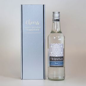 Personalised Tequila Engraved Silver Box