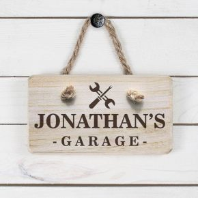Personalised Wooden Garage Sign