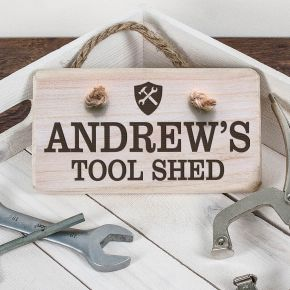 Personalised Wooden Tool Shed Sign