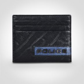Police Droid Leather Credit Card Case Black/Navy