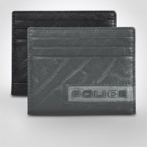 Police Droid Leather Credit Card Case
