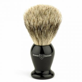 Medium Badger Brush & Stand Black