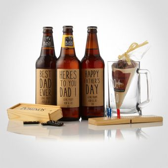 Personalised Ale & Traditional Pub Games Gift Box