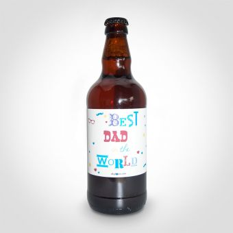 Best Dad in the World Beer Bottle