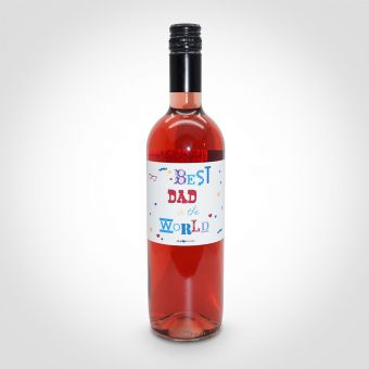 Best Dad in the World Rose Wine