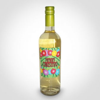 Personalised Merry Christmas White Wine