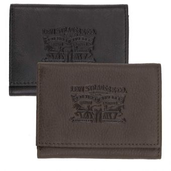 Levis Clairview Leather Trifold Wallet