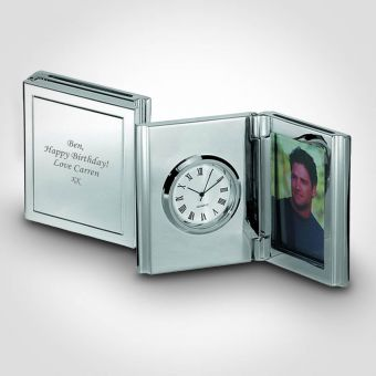Personalised Desk Clock and Photo Frame