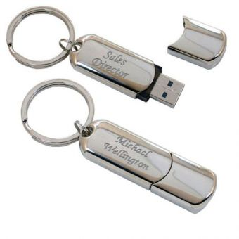 Engraved Nickel Plated 4GB USB Flashdrive