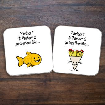 Personalised Fish & Chips Coasters