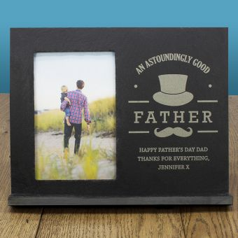 Personalised Astoundingly Good Father Slate Frame