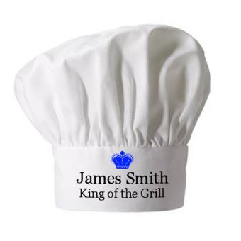 Personalised King of Grill Chef Hat