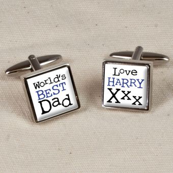 Personalised The World's Best Dad Cufflinks