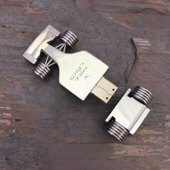 Personalised Racing Car USB Flash Drive